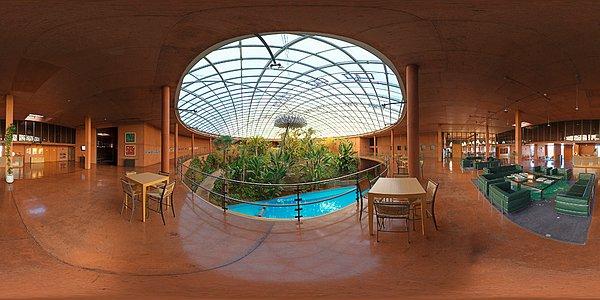 Panorama inside La Residencia