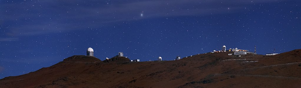 Night-time at La Silla