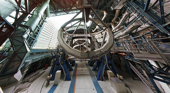 VLT inside the dome