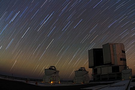 Startrails on Paranal