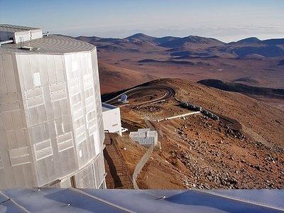 View above a VLT Unit Telescope