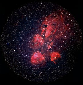 Cat's Paw Print in the Scorpius Constellation