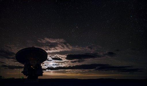 Glowing Moon ALMA silhouette