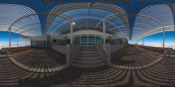 Panoramic view outside the OSF