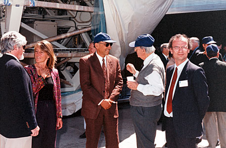 Jorge Melnick at the Paranal Inauguration