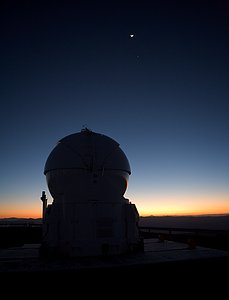 AT4 at dawn on Paranal