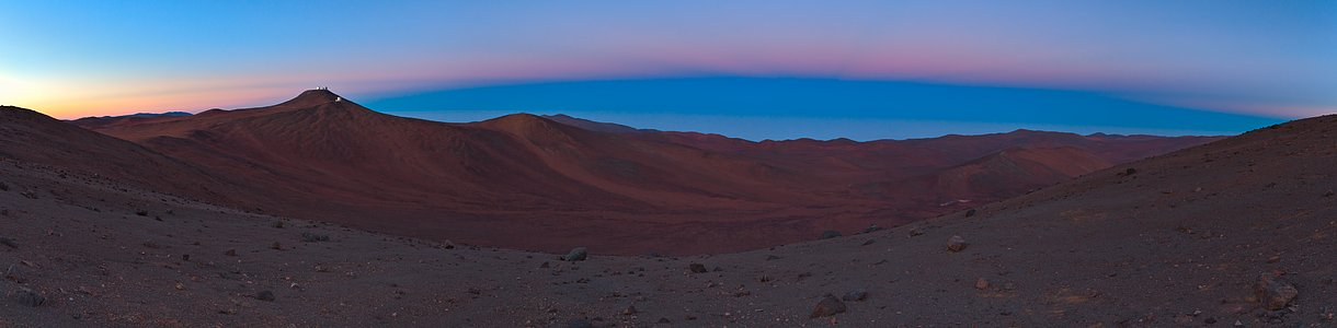 Earth Shadows over Paranal