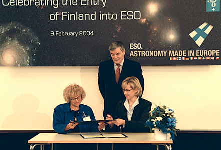 ESO - Finland Signing Ceremony