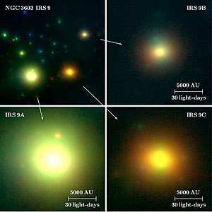 The High-Mass Protostars IRS 9A-C