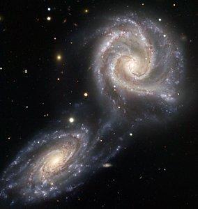 Galaxias que se atraen