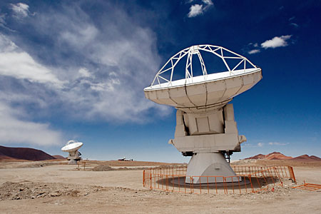 ALMA Antennas on Chajnantor