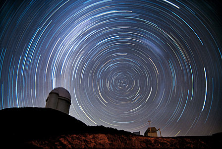 Der Sternhimmel über La Silla