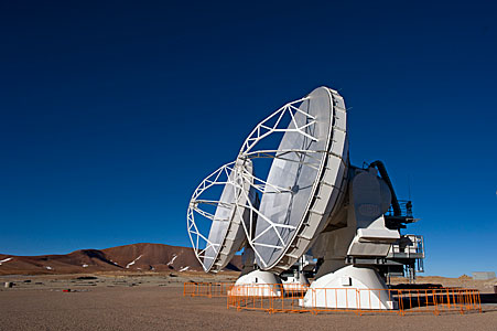 ALMA Antennas Stand Together