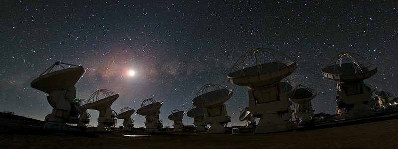 ALMA and a Starry Night — a Joy to Behold