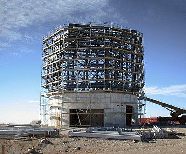 Building VISTA, the World's Largest Survey Telescope (historical image)