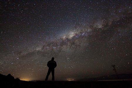 Die Galaxis bewundern