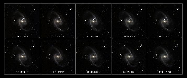 Ascenso y caída de una supernova