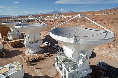 Antenas europeas en la instalación de soporte de operaciones de ALMA