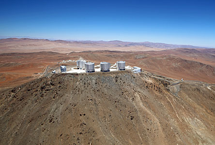 Wings for Science fliegt über den Paranal