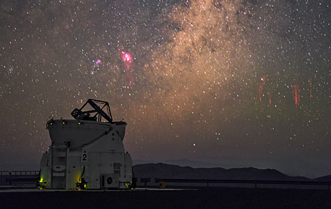 Sprites at Paranal Observatory