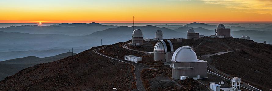 Panorama al tramonto a La Silla