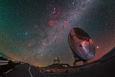 Komet Lovejoy besucht La Silla