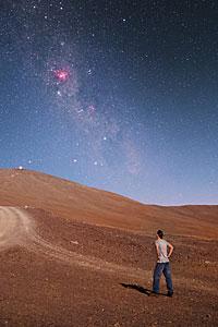 Nebulosa de Carina bajo la luz de la Luna