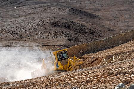 Bulldozer on Cerro Armazones