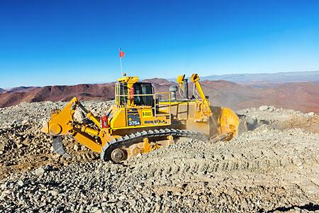 Digger on Cerro Armazones