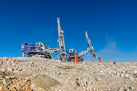 Drill work on Cerro Armazones