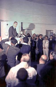 President Eduardo Frei Montalva at the La Silla inauguration