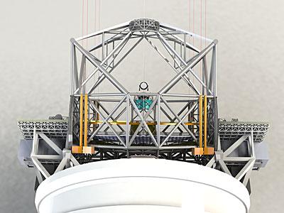 E-ELT 3D rendering