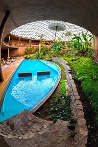 Swimming pool inside the Residencia