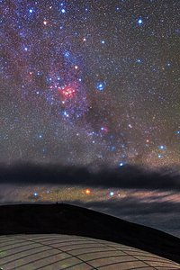 A nebulous sky