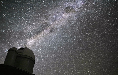 The Milky Way above the ESO 3.6-metre telescope
