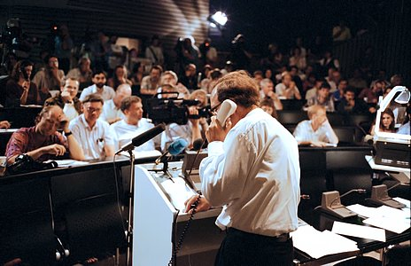 ESO Auditorium during a Comet Shoemaker–Levy 9 symposium, July 1994.