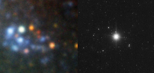 SN2008bk: The last moments of a star
