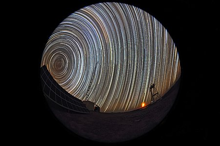 Star trails at Cerro Armazones