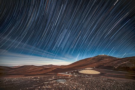 Star Trails Over La Residencia