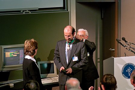 Massimo Tarenghi Receiving the Italian Medal