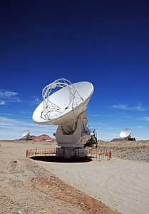 Three ALMA antennas