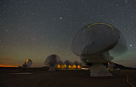 Dancing telescopes