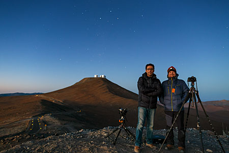 ESO Photo Ambassadors watching the stars over the VLT