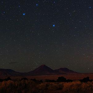 Night Sky View over Licancabur