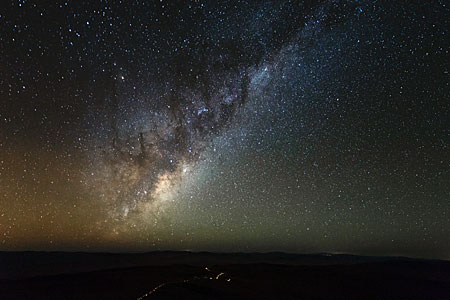 Golden Milky Way Hangs Brightly over the VLT