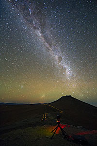 The Milky Way over Cerro Paranal