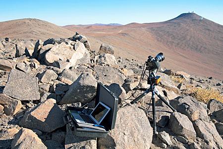 TimeLapse Bot Distant Shot Set Up Near Paranal
