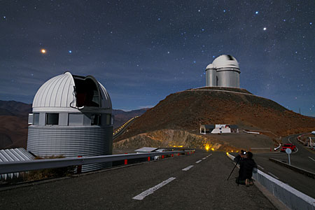 Mars above the Swiss 1.2-metre Leonhard Euler Telescope
