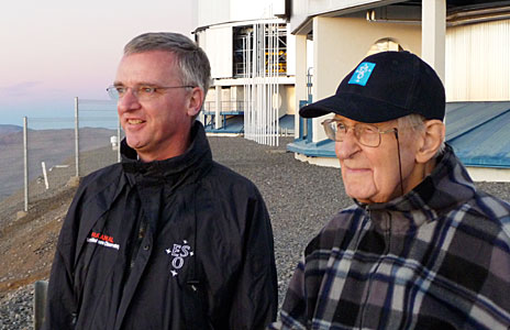 Two ESO Directors General at Paranal