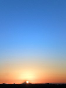Sunset from Paranal
